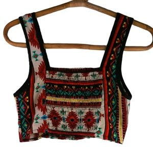 Wet Seal Boho Cropped Top S